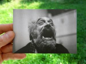 Federico Tavan in una delle cartoline della festa