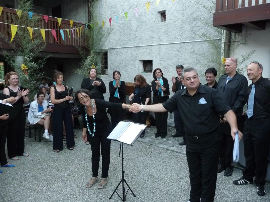 Direttore Cristina Fedrigo e Compositore Virginio Zoccatelli